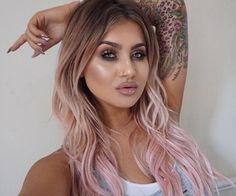 look at these rose gold hair Pink Blonde Hair, Pink Ombre Hair, Rose Gold Hair, Pastel Hair, Biolage Hair, Unicorn Hair Color, Pinterest Hair, Great Hair, Hair Looks