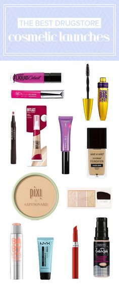 These are the best new drugstore cosmetic and makeup products. From concealer to mascara to foundation to lipstick to blush, here's a list of budget-friendly and affordable options.
