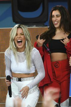 Lauren Jauregui and Halsey performs on ABC's 'Good Morning America' at Rumsey Playfield, Central Park on June 2018 in New York City Halsey, Fifth Harmony Lauren, Baby Grill, Everything Is Blue, Perfect Together, Badass Women, Famous Women, Famous People, Cute Gay
