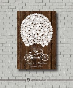 Love this!!! We'll never look at a traditional guest book but this is cute enough to have on the wall!