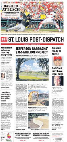 The St. Louis Post-Dispatch front page for Saturday, Oct. 5, 2013
