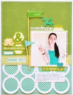 #papercraft #scrapbook #layout.  Jillibean Soup - Leanne Allinson - Lay Out 14 rounding up