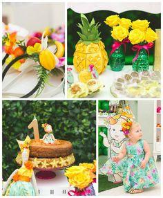Tropical 1st Birthday Pineapple Party via Kara's Party Ideas KarasPartyIdeas.com #tropicalparty (2)
