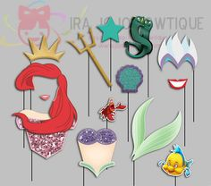 Princess Mermaid & Sisters Photo Booth Props https://www.birthdays.durban