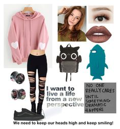 """""""Just keep smiling sunshine"""" by linkwantstobattle on Polyvore featuring WithChic, Hot Topic, Lime Crime, Vans, Loungefly and STELLA McCARTNEY"""