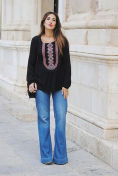 Flared jeans. http://www.fashion-south.com/2015/09/flared-jeans.html
