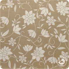 Tecido Luxúria Floral - Bege