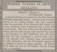 Image result for women vote nz