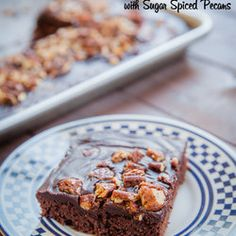 ... Texas Sheet Cake With Mexican Chocolate Spices) With Sugar Spiced