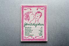 letterpress postcard auf Gmund linen cream Letterpress, Cream, Cover, Books, Art, Paper Mill, Kiss, Birthday, Creme Caramel