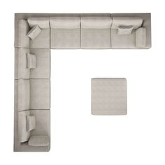 Perry Preconfigured Large Corner Sectional Sofa