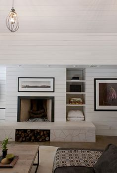 wood plank walls - Family Room - contemporary - spaces - austin - Urban Jobe Architecture