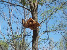Nidales/casitas pájaros - cajas nido (para autillos) - hecho a mano por regaladistinto en DaWanda