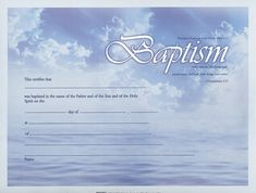 baptism certificate - Google Search