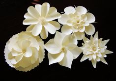 5 Extra Large Paper Flowers  18 by JumpingJones on Etsy, $162.00