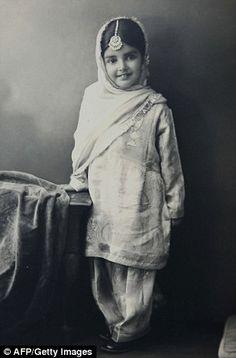 Privileged: Amrit Kaur as a little girl