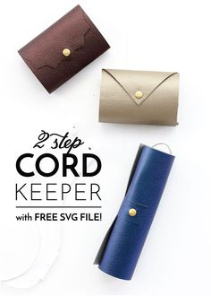 Tired of losing your cords in the bottom of your purse or gym bag? Try this simple DIY Cord Keeper that come together in just 2 steps!