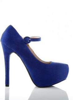 Blue+Suede+Platform+Heels+with+Buckle+Closure,++Shoes,+suede+heels++platforms,+Chic