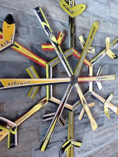 Upcycled mountain art made from Whistler skis, by Whistler artists.
