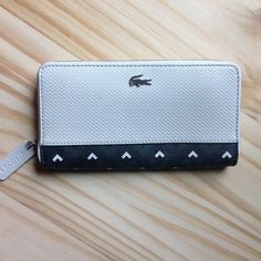Lacoste wallet Madly pique zip wallet in embossed leather Lacoste Bags Wallets