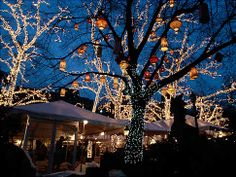 I wish Tavern on the Green, NYC, was still open.  Such a gorgeous restaurant.  Love those lanterns.