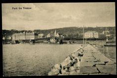 Troms fylke TROMSØ. Parti ved vannkanten. ca 1915.  Utg T. Høegh