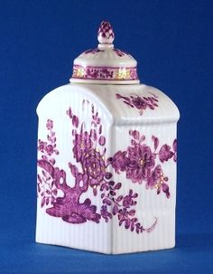 A Meissen Tea Caddy and Cover, about 1770