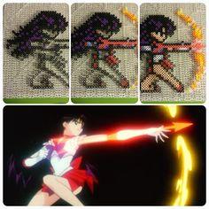 Sailor Mars Flame Sniper perler fuse beads by b.dawg.skip