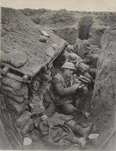 """jasta11: """" Canadian soldiers in a quiet moment, World War I. """""""