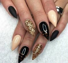 Nude black strass