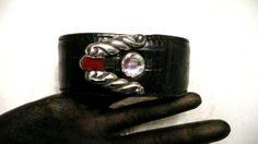 Black Leather Brighton Cuff Bracelet Skin by VagabondChicks, $18.00