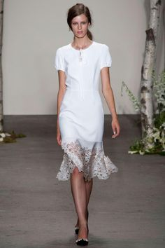 """""""I loved the laser cut appliques."""" - Colleen Sherin on Honor SS14 Collection #NYFW"""