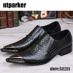 Mens leopard pointed toe formal dress business shoes buckle hairdresser style sz