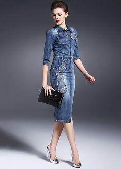 Bildergebnis für jeans kleider
