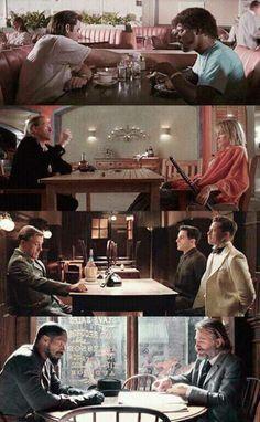 Quentin Tarantables Pulp Fiction (1994)Kill Bill (2003)Inglorious Bastards (2009)Django Unchained (2012)(Facebook)