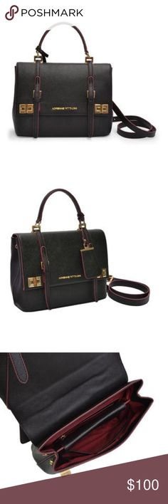 Adrienne Vittadini Vegan Top Handle Senior Flap Carry all of your must have items in this gorgeous Adrienne Vittadini Satchel. Crafted from faux leather, this stunning purse offers a fully lined interior, multi accessory interior pockets, and top carry handle. A detachable strap provides more carrying options. Adrienne Vittadini Bags Satchels