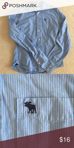 Light blue Abercrombie button down Long sleeve SB Abercrombie & Fitch Tops Button Down Shirts
