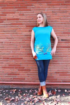 Items similar to The beauty of Peacocks.Teal on Etsy Peacocks, Teal, Tunic, Trending Outfits, Handmade Gifts, Unique, Life, Clothes, Beauty