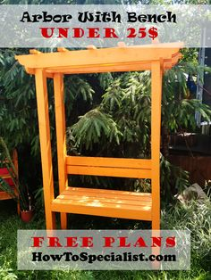 How To Build A Garden Arbor With Bench