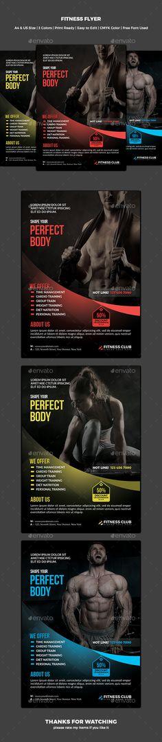 Fitness Flyer Template PSD #design Download   graphicrivernet