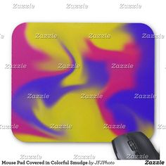 Shop Mouse Pad Covered in Colorful Smudge created by JFJPhoto. New Employee, Custom Mouse Pads, Marketing Materials, Smudging, Colorful, Cover, Design