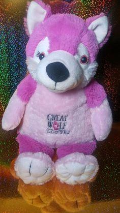 Great Wolf Lodge HOT Pink Furry Plush Wolf Husky Stuffed Plush Zip Zipper  #Fiesta #husky #furry #hotpink #plush Wolf Husky, Great Wolf Lodge, Misfit Toys, Hot Pink, Plush, Teddy Bear, Zipper, Kids, Fiestas