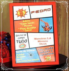 Quadrinho tipo história em quadrinhos você já conhecia?!? Só na Daniela Truvilhano Festas.  Acesse o site: https://dtfestas.wixsite.com/dtfesta  #danielatruvilhanofestas #dtfestas #sitedtfestas #quadrinhos #festahomemaranha #decoraçãohomemaranha