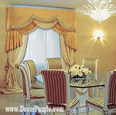New catalogue of classic luxury curtains and luxury drapes 2018 with the best classic curtains designs and drapery designs 2018 for all rooms living room, kitchen, dining room, bedroom and bathroom curtain designs 2018 for luxury interior design Corner Curtains, Curtains And Draperies, Luxury Curtains, Lace Curtains, French Door Curtain Panels, Sliding Curtains, Latest Curtain Designs, Drapery Designs, French Country Curtains