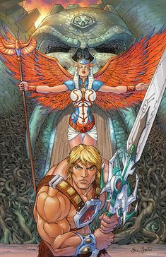 He-Man/Sorceress by Enza and Baena...... !!!!
