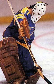 Growing up, Mike Liut was my hero. Ice Hockey Teams, Bruins Hockey, Hockey Goalie, Hockey Games, Blues Nhl, Goalie Mask, Florida Panthers, St Louis Blues, Vancouver Canucks