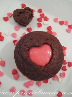 Cupcake de Chocolate com Recheio de Maracujá