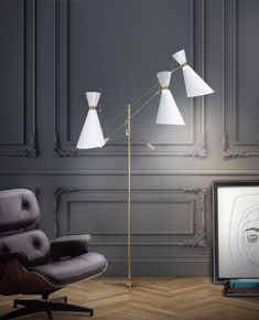 You have to get the coolest midcentury lighting design in the world! These mid century lighting designs will light up your interior home decor and interior design projects like no other. Grab the oppo Modern Floor Lamps, Beautiful Floor Lamps, Interior Design Trends, Home Decor, Floor Lamp Design, Living Room Lighting, Home Interior Design, Floor Lamps Living Room, Industrial Style Decor