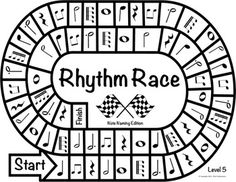 Music Centers: Rhythm Race Note Naming Edition Level 3 - R Elementary Music Lessons, Music Lessons For Kids, Music Lesson Plans, Music For Kids, Elementary Schools, Piano Lessons, Rhythm Games, Music Theory Games, Music Games