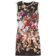 Dolce & Gabbana Printed stretch-silk mini dress ($1,545) ❤ liked on Polyvore